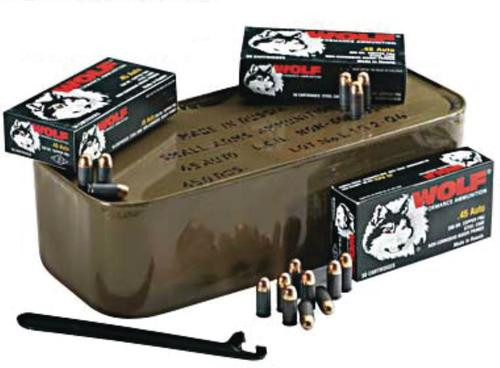 Wolf 223 55gr, FMJ 500 Round, Military Tin
