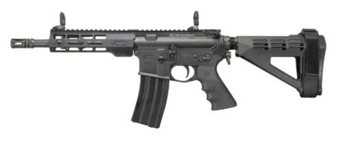 "Windham AR-15 Pistol 223/5.56, 9"" Barrel, 5- Position SB Pistol Brace, 7"" Forearm, Front/Rear Flip Sights"
