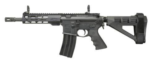 "Windham AR-15 Pistol 223/5.56, 9"" Barrel, 5- Position SB Pistol Brace, 7"" Forearm, Front/Rear Flip Sights"
