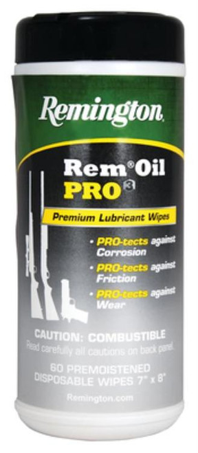 Remington Rem Oil Pro3 Lubricant Wipes 60 Count