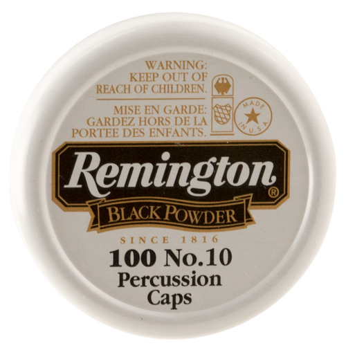 Remington #10 Percussion Caps Black Powder Brass 100 BX/ 50 C