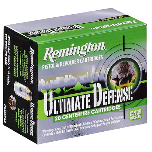 Remington Ultimate Defense Full-Sized Handgun 40 S&W, BJ Hollow Point, 165gr, 20rd Box