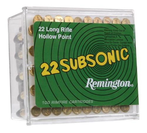 Remington Subsonic 22LR Hollow Point 38gr, 100rd/Box