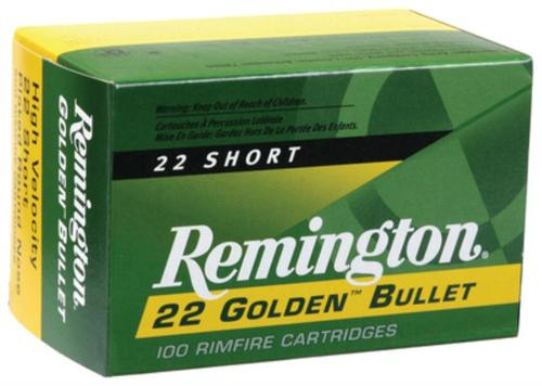 Remington 22 Short 29GR HV Plated Lead Round Nose100rd/Box