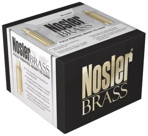 Nosler Unprimed Brass Cases 7mm Remington SAUM 25/Box