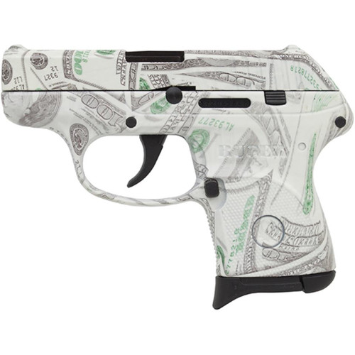 "Ruger LCP 380acp 2.75"" Barrel $100 Bill Glowing Camo 6rd Mag"
