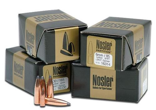 Nosler Partition Spitzer 375 Caliber .375 260gr, 50 Per Box