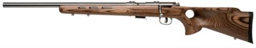 """Savage Mark II BTV Bolt 22 LR 21"""" Barrel, Laminate Thumbhole Brown St, 5rd"""
