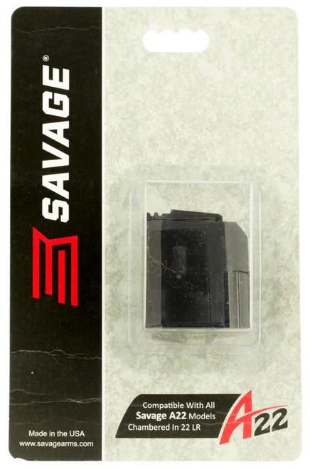 Savage A22 22 LR Magazine, 10 rd Black