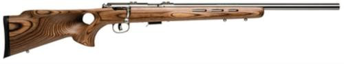 "Savage 93 BTVS, 22 WMR, 21"" Heavy Barrel, Stainless Steel Barrel and Action, Brown Laminate Wood Stock, 5Rd, Detachable Box Magazine"