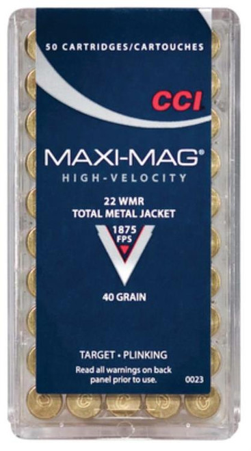 CCI Select 22 Win Mag Total Metal Jacket 40gr, 50rd Box
