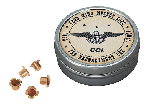 CCI Muzzleloader Musket Caps Brass, 1000 Tin