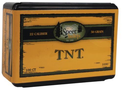 Speer Bullets Rifle Varmint 22 Caliber .224 30gr, TNT Green 100 Box