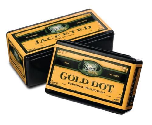 Speer Handgun 9mm .355 115gr, Gold Dot Hollow Point 100 Box
