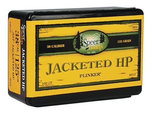 Speer Bullets Handgun Plinking 38 Caliber .357 125gr, JHP 100 Box