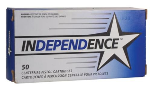 Federal Independence 357 Magnum 158gr, Jacketed Soft Point 50rd Box