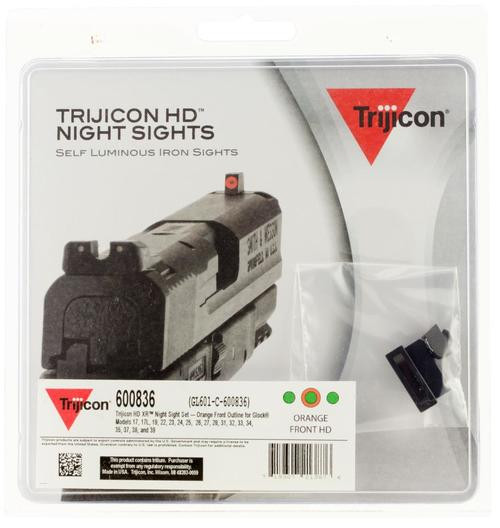Trijicon HD Night Sights Glock 17/17L/19/22-28/31-35/37-39 Orange