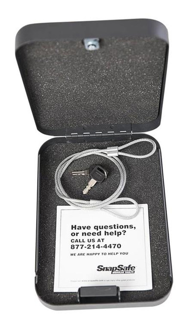 Snap Safe Lockbox Gun Safe Black, XXL, Keylock