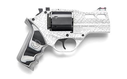 "Chiappa White Rhino 30DS, .357 Magnum, 4"", Skin Laser, Fiber Optic Sights"
