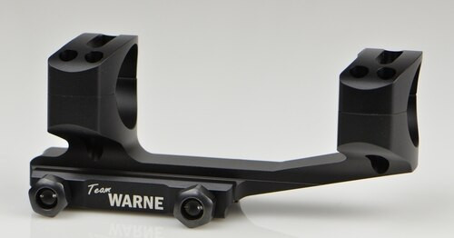 Warne Gen 2, Extended Skeletonized 30mm MSR Mount, Black, Fixed MSR for Picatinny Rail/Flat Top MSR