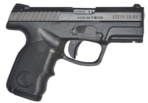 "Steyr S9-A1 Double 9mm, 3.6"", Black Polymer Grip, 10rd"
