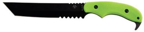 "Ka-Bar ZK Famine Tanto Fixed 7.63"" 1095 Cro-Van Plastic Green"