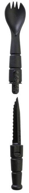 "Ka-Bar Tactical Spork 2.5"" Serrated Blade Grilamid Black"