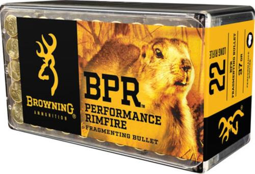 Browning BPR Performance 22 LR 37gr Fragmenting, 1000rd (20 Boxes of 50rd)