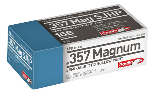 Aguila Ammunition .357 Magnum, 158 Gr, Semi-Jacketed Soft Point, 50rd Box
