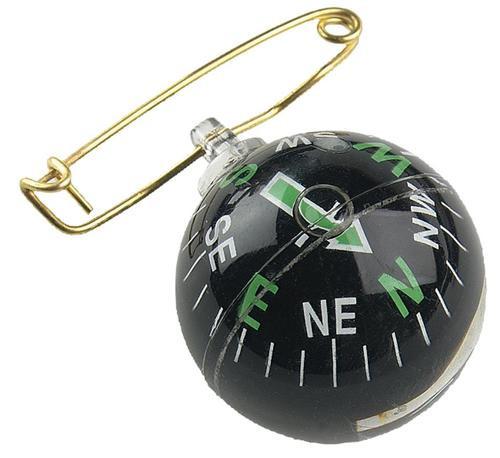 Allen Liquid Filled Pin On Compass Black