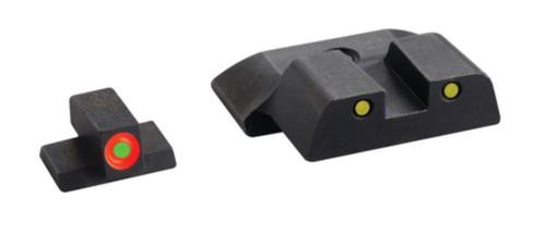 Ameriglo Spartan Tactical Tritium Night Sight Set For S&W M&P (except Pro and Shield) Orange/Yellow