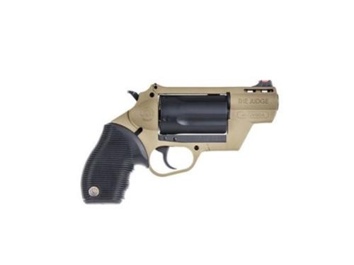 "Taurus Judge Public Defender 410/45Colt 2"" Barrel 2.5"" Chamber Flat Dark Earth Frame"