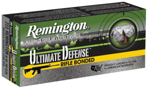 Remington Ultimate Defense 223 Rem 62gr, Bonded Core-Lokt 20rd Box
