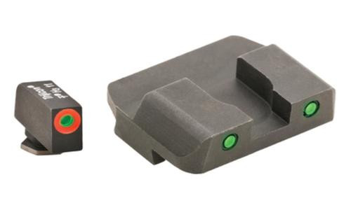 AmeriGlo Spartan Tactical Tritium Night Sight Set For Glock 17/19/22 Orange/Green