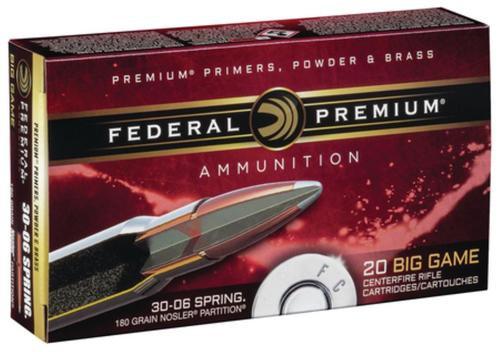 Federal Premium 30-06 180gr, AB, 20rd Box