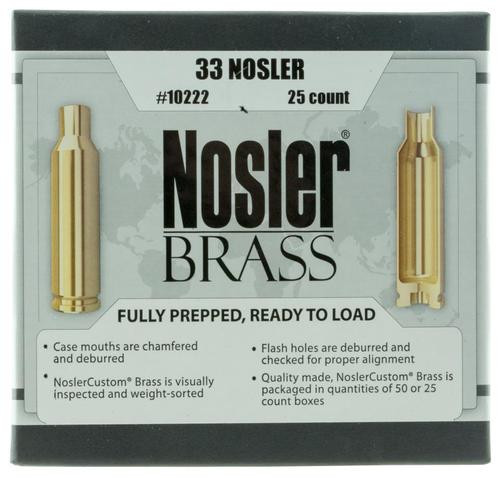Nosler Rifle 33 Nosler Brass 25 Per Box