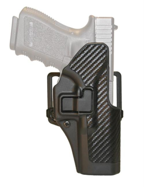 Blackhawk CQC Carbon Fiber Serpa Active Retention Holster Textured Black Right Hand For H&K P-30