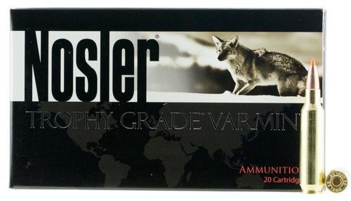 Nosler Trophy Grade 22 Nosler 55gr, Ballistic Tip 20rd Box