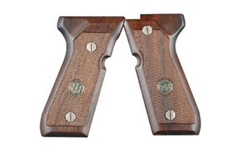 Beretta 92 / 96 Wood Grips With Medallion 92 Series
