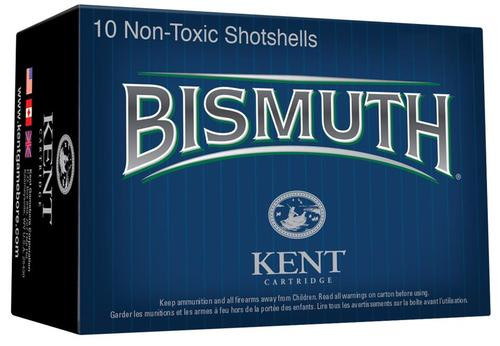 "Kent Bismuth 12 Ga, 3"", 1 3/8oz, 4 Shot, 10rd/Box"