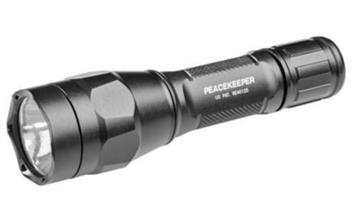 Surefire Peacekeeper Rechargable 18650 Battery, Click Switch 600/15 LU Dual Output, Black