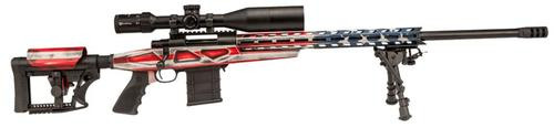 "Howa 1500, Bolt Action Rifle, 6.5 Creedmoor, 24"" Heavy Threaded Barrel, Red White & Blue American Flag Finish, Polymer Stock, Right Hand, Bipod, 10rd Mag, 4X16-50 Scope Included"