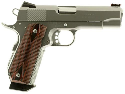 "Ed Brown Kobra Carry 9mm, 4.25"", 7rd, Laminate Wood Grips, Stainless Steel"