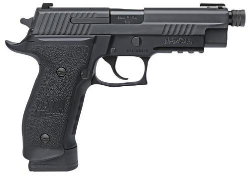 """Sig P226 Tacops SA/DA 9mm, 4.4"""" Threaded Barrel, 10rd, Black"""
