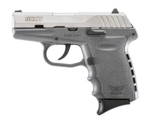 "SCCY CPX-2, 9mm, 3.1"", 10rd, Gray Polymer Frame, Stainless Steel"