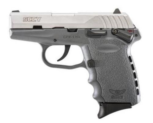 "SCCY CPX-1, 9mm, 3.1"", 10rd, Gray Frame, Stainless Steel"