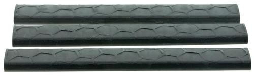 Hexmag LowPro Rail Cover Picatinny 18 Slot Polymer Black 3 Pack