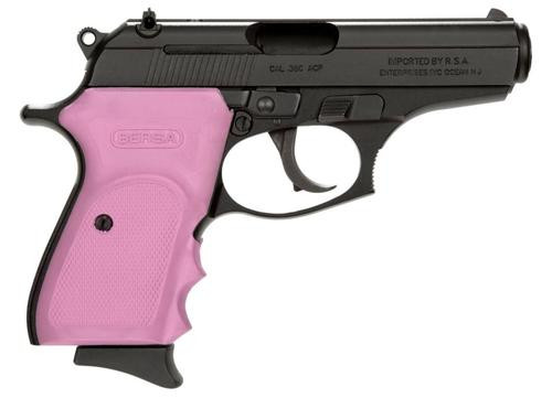 "Bersa Thunder .380 ACP, 3.5"" Barrel, 8rd, Pink Rubber Grip, Black SS"