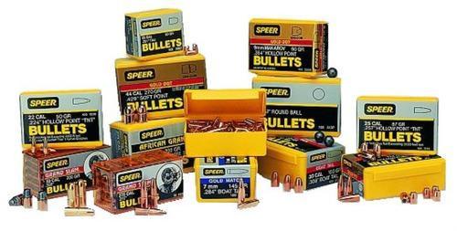 Speer Bullets Rifle Plinking 40 Caliber .400 180gr, Total Metal Jacket 400 Box