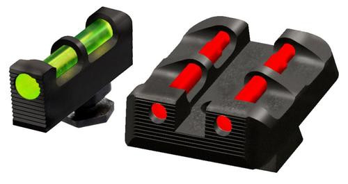 Hiviz Glock Target Sights All Glock Green/Red/White Front Green/Red/Black Rear